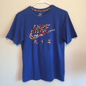 Men's Nike Blue T-Shirt size small digital print